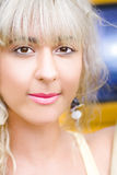 Summer Blond Woman Royalty Free Stock Photo