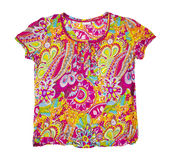 Summer blouse with a floral pattern. isolated Stock Image