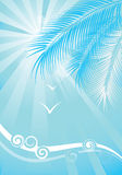 Summer blue background Stock Photography