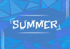 Summer & x28;blue background with waves& x29; stock photo