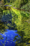 Summer Blue Green Colors Reflection Wenatchee River Washington Stock Photo