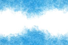 Summer blue ice abstract or vintage watercolor paint background. Clear summer blue ice abstract or vintage watercolor paint background stock illustration