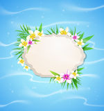 Summer blue marine  background Royalty Free Stock Images