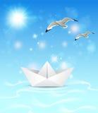 Summer blue marine background Stock Images