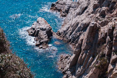 The Summer Blue sea with the rock Stock Photography