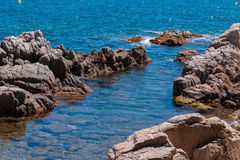 The Summer Blue sea with the rock Stock Image