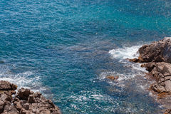 The Summer Blue sea with the rock Stock Images