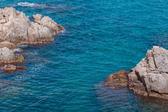 The Summer Blue sea with the rock Royalty Free Stock Photography