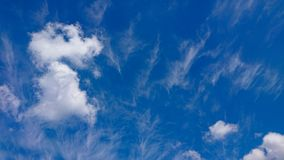 Summer blue skies. A summer blue skies and clouds formation royalty free stock images