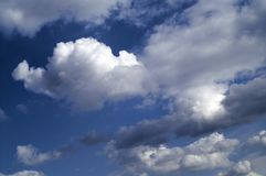 Summer blue sky stock images