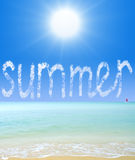 Summer in a blue sky Royalty Free Stock Photos