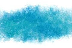 Summer blue sky abstract or vintage watercolor paint background Royalty Free Stock Photography