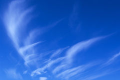 Summer blue sky with clouds Royalty Free Stock Photo