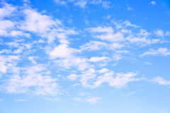 Summer blue sky and clouds Royalty Free Stock Photos