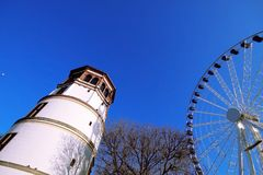 Summer blue sky , Germany. Summer blue sky , park in Germany Royalty Free Stock Image