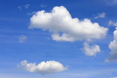 Summer Blue Sky with White Clouds Stock Photo