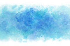 Summer blue water wave abstract or vintage watercolor paint background. Clear summer blue water wave abstract or vintage watercolor paint background royalty free illustration
