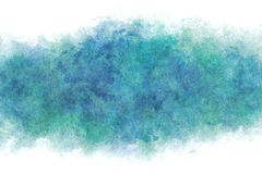 Summer blue water wave abstract or vintage watercolor paint background. Clear summer blue water wave abstract or vintage watercolor paint background stock illustration