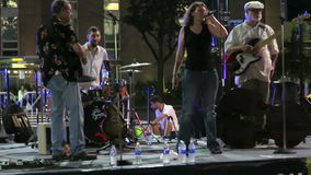 Summer Blues Band at Night stock video