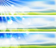 The  summer blurs banners Royalty Free Stock Photo