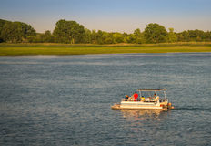 Summer Boating. Pleasure Boating on the south Detroit River Stock Photo