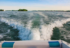 Summer Boating. Pleasure Boating on the south Detroit River Royalty Free Stock Image