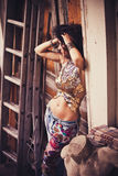 Summer boho  fashion girl Royalty Free Stock Photography