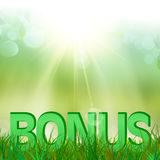 Summer bonus in  green grass Stock Images