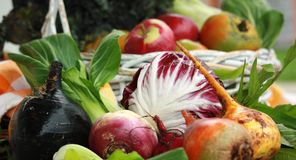 Summer bounty with beets Stock Photo