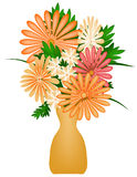 Summer Bouquet. Illustrations of a bouquet of summer flowers Stock Photo