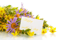 Summer bouquet of daisies and loosestrife Stock Photo