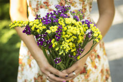 Summer bouquet. Full of freshness , tenderness and lightness Royalty Free Stock Photos
