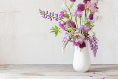 Summer bouquet in white interior Royalty Free Stock Image