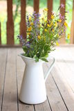 Summer bouquet in a white pitcher Royalty Free Stock Photos