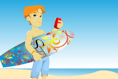 Summer boy Royalty Free Stock Images