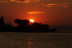 SUMMER BRAC. ILAND BRAC CROATIA SUNSET Stock Photography