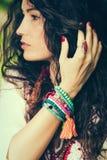 Summer bracelets of beads Stock Image