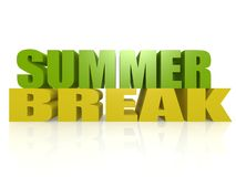 Summer break. Image with white background Stock Images