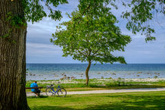Summer break in Visby, Sweden Royalty Free Stock Photo