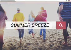 Summer Breeze Relaxation Holiday Happiness Fresh Concept Stock Image