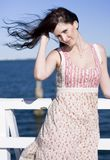 Summer Breeze Woman Stock Image