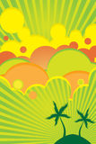 Summer bright color poster Stock Images