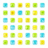 Summer bright icons Royalty Free Stock Photography