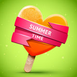 Summer bright orange ice cream Stock Photography