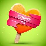 Summer bright orange ice cream Stock Photography
