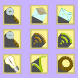 Icons for web and phone Royalty Free Stock Photos