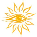 Summer bright sun. stock illustration