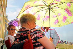 Summer brolly days royalty free stock image