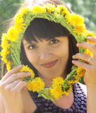 Summer brunette closeup Royalty Free Stock Photos