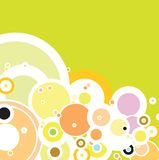 Summer bubble. A hazzy summer background with the sue of circles vector illustration